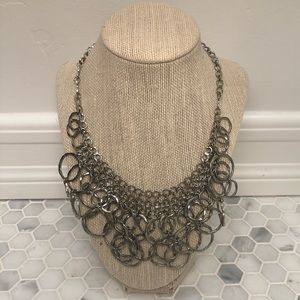 Silver Circles Layered Necklace
